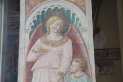 A fresco of the Archangel Raphael with Tobias