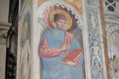 A fresco of St. Bartolo.