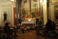 The altar of Repose on Holy Thursday at the altar of the  Holy Cross.