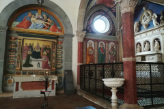 A view of the tomb of St. Bartolo.