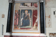 This painting of the Madonna is the oldest fresco in San Gimignano.