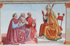 San Gimignano blessing three famous citizens of the town,