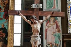 The crucifix near the main altar.