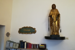 A statue of the Blessed Mother from 1937.