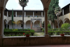 Beautiful view of the cloister.