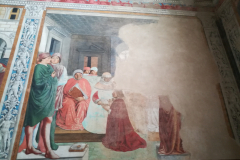 Augustine in school at Carthage.  This fresco was damaged by dampness.